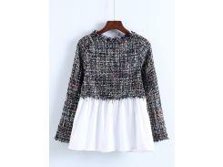 Контрастная модная блуза