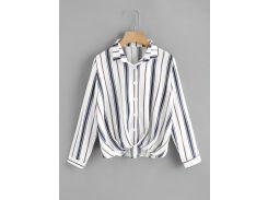 Модная асимметричная рубашка в полоску