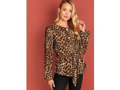 Леопардовое пальто на пуговицах