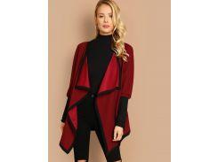Пальто с воротником до плеч и контрастной отделкой