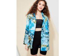 Разноцветный пиджак с змеиным принтом
