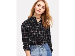 Модная клетчатая блуза