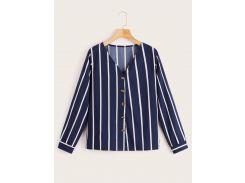 Блуза в вертикальную полоску с пуговицами