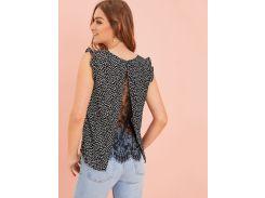 Блуза без рукавов с принтом