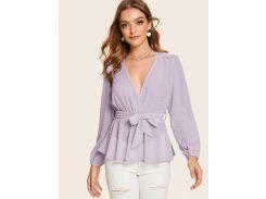 Стильная блуза с поясом