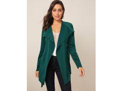 Однотонное пальто с оригинальным воротником