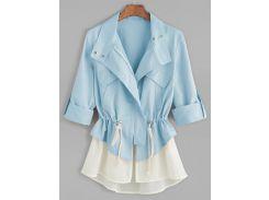 Куртка с коротким рукавом с подставкой для контраста