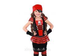Пиратка карнавальный костюм детский 32