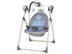 Кресло-качалка Baby Mix SW102RC +мобиль и пульт gray