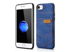 XOOMZ для iPhone 8 / 7 PC силиконовый чехол с джинсами ткань с кожаной обивкой - Темно-Синий