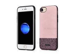 XOOMZ Блестящий PU Кожаный Корпус Для Мобильного Телефона Для Iphone 8 / 7 4,7 Дюйма - Розовый