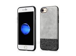 XOOMZ Блестящий Кожаный Чехол Для Iphone 8 / 7 4,7 Дюйма - Серый