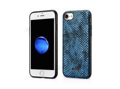 XOOMZ Текстура Змеи PU Кожаный Чехол Для Мобильного Телефона ТПУ Для Iphone 8 / 7 4,7 Дюйма - Синий