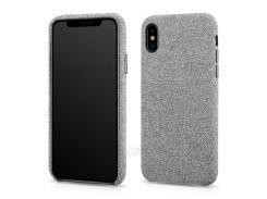 XOOMZ Ткань Текстуры Кожа С Покрытием Пластиковый Жесткий Чехол Для IPhone X - Серый