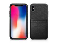 XOOMZ Ткань + PU Кожаный Слот Для Слота Для Iphone X - Черный