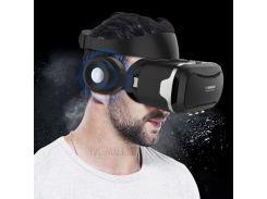 SHINECON 4 Поколения 3D IMAX Панорамный VR Бокс Для Виртуальной Реальности Со Стерео Наушниками - Черный