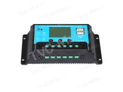 12V / 24V 20A Контроллер зарядного устройства с батарейным блоком солнечной батареи с двойным выходом USB 5V CMTD-2420