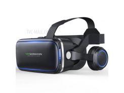SHINECON 6 Поколения G04E 3D VR Очки Для Виртуальной Реальности С Наушниками Для 4.0 - 6.0-дюймовые Телефоны - Черный