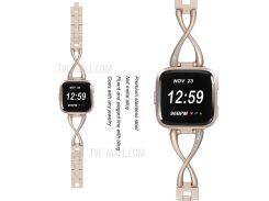 X-образная Металлическая Ремешка Для Ремня С Заменой Для Fitbit Versa - Золото