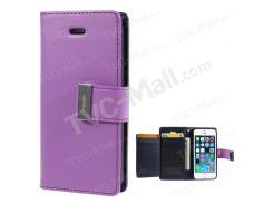Ртуть GOOSPERY Богатый Кожаный Чехол Для Карточного Покрытия Для Iphone SE 5s 5 - Пурпурный