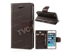 Ртутный Goospery Соната Дневник Кожаный Магнитный Чехол Для Iphone SE 5s 5 Вт / Подставка - кофе