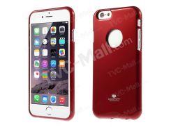Ртуть GOOSPERY Блестящий Порошок Мягкий Чехол TPU Для Iphone 6s / 6 4,7 Дюйма - Красный