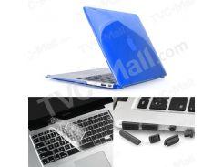 ENKAY Пластиковый Фронт  Задняя Крышка Для Macbook Air 13.3 '' W / Защитная Крышка Для Клавиатуры TPU + Противопылевые Заглушки - Темно-синий