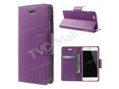 Меркурий Goospery Соната Дневник Бумажник Кожа Стенд Крышка Для IPhone 6 Плюс / 6S плюс - Пурпурный