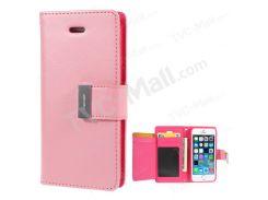 Ртуть GOOSPERY Богатая Кожаная Крышка Держателя Карты Для Iphone SE 5s 5 - Розовый
