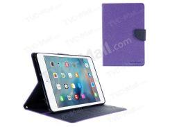 Кожаный Чехол Для Кошелька MERCURY GOOSPERY Для Ipad Mini 4 С Подставкой - Пурпурный