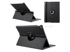 Ткань кожа поворотный стенд Смарт кожаный чехол для iPad Pro 12,9 дюйма - черный