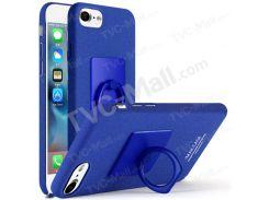 IMAK Пальцем Кольцо Подставка Матовая Пластиковая Жесткая Крышка Для Iphone 8 4,7 Дюйма / 7 4,7 Дюйма - Синий