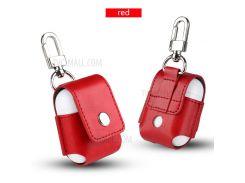 PU Кожаный Защитный Анти-потерянный Чехол Для Airpods Apple Зарядки Случае - красный