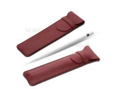СОЯН PU кожаный чехол держатель Чехол для Apple, карандаш - Гладкая Текстура / красный