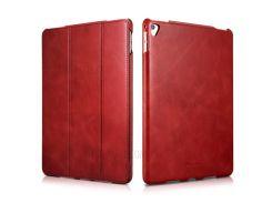 ICARER Ретро три-сложите из натуральной кожи стенд Чехол для iPad Pro и 9.7 дюймов - красный