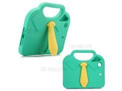 3D рубашка галстук ударопрочный кейс EVA с ручкой подставкой для Ipad мини 4/3/2/1 - зеленый