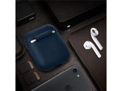Падени-доказательство Мягкий Силиконовый Чехол Для Apple Зарядки Airpods Случае - Темно-Синий
