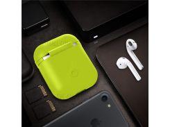 Ударопрочный Мягкий Силиконовый Чехол Для Зарядки Футляров Apple Airpods - Зеленый