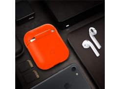 Силиконовый Защитный Противоударный Чехол Для Airpods Apple Зарядки Случае - оранжевый