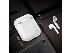 Падени-доказательство Силиконовый Защитный Чехол Для Airpods Apple Зарядки Чехол - белый