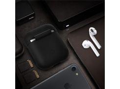Противоударный Силиконовый Защитный Чехол Для Зарядки Футляров Для Apple Airpods - Черный