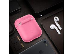 Силиконовый Защитный Противоударный Чехол Для Airpods Apple Зарядки Чехол - розовый