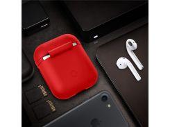 Противоударный Силиконовый Защитный Кожух Для Зарядки Футляров Apple Airpods - Красный