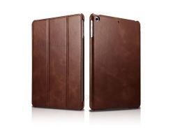 ICARER Натуральная кожа три-сложите чехол Подставка для iPad 9.7-дюйма(2017) - коричневый