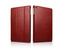 ICARER Натуральная кожа три-раза стенд Крышка для iPad 9.7-дюйма(2017) - красный