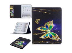 Pattern Printing PU Leather Magnetic Wallet Case Cover for iPad 4/3/2 - Golden Butterflies