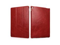 ICARER от-будильник/сна Натуральная кожа три-раза стенд Крышка для iPad Pro с 12.9(2017) - красный