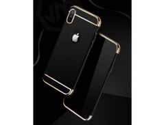 JOYROOM Ling Серии 3-в-1 Гальванических Матовый ПК Мобильный Телефон Чехол Для IPhone X 5.8 Inch - черный