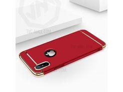 JOYROOM Ling Серии Для IPhone X / 10 5,8 Дюйма 3-в-1 Гальванических Матовый ПК Задняя Крышка - красный