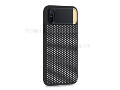 JOYROOM Cube Series PC + Zinc Alloy Hybrid Stand Case for iPhone X 5.8 inch - Black